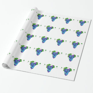 Jamurissa - square grapes wrapping paper