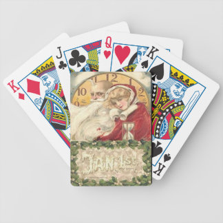 Jan 1st Old Father Time New Year Bicycle Playing Cards