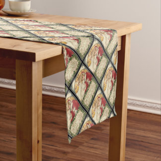 Jan 1st Old Father Time New Year Short Table Runner