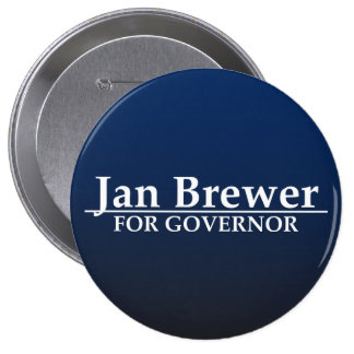 Jan Brewer for Governor 10 Cm Round Badge