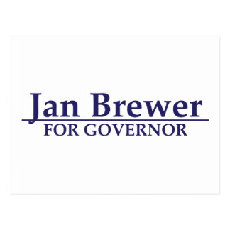 Jan Brewer for Governor Postcard