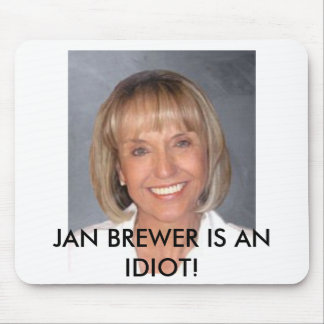 Jan Brewer is an idiot Mousepads