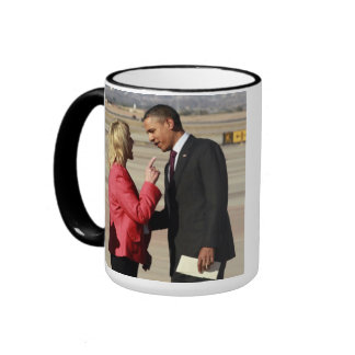 Jan Brewer lays into Obama Ringer Coffee Mug