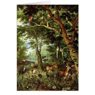 Jan Bruegel the Elder - Paradise Greeting Card