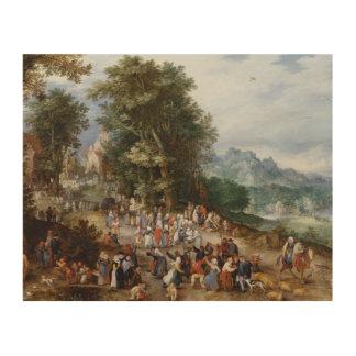 Jan Brueghel the Elder - Flemish Fair Wood Prints