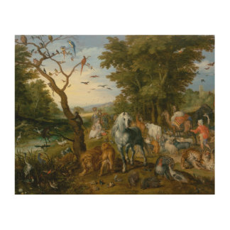 Jan Brueghel the Elder - The Entry of the Animals Wood Canvas