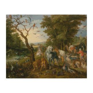 Jan Brueghel the Elder - The Entry of the Animals Wood Prints