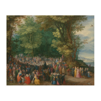 Jan Brueghel the Elder - The Sermon on the Mount Wood Canvases