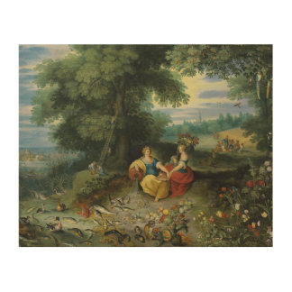 Jan Brueghel the Younger - An Allegory of Water Wood Canvas