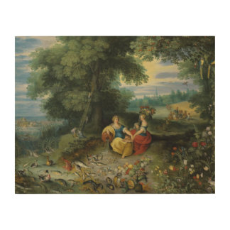 Jan Brueghel the Younger - An Allegory of Water Wood Canvases