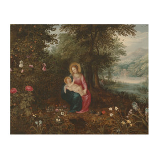Jan Brueghel the Younger - The Rest on The Flight Wood Prints