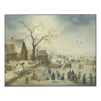 Jan Brueghel the Younger - Villagers on the ice
