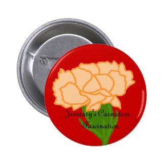 Jan carnation Fascination button