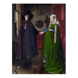 Jan Eyck- The Arnolfini Wedding Postcard