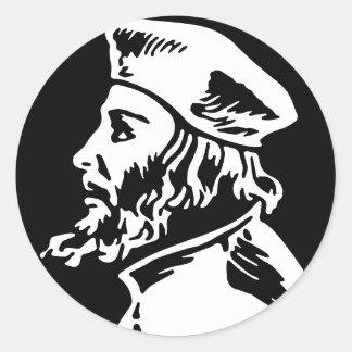 Jan Hus Classic Round Sticker