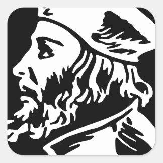 Jan Hus Square Sticker