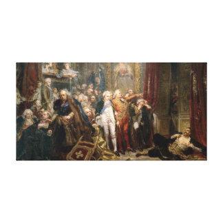 Jan Matejko Rejtan, or the Fall of Poland Canvas Print