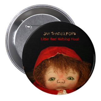 Jan Shackelford Button Pin Little Red Riding Hood