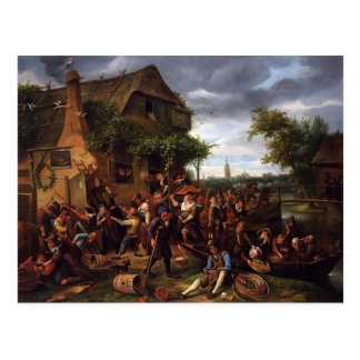 Jan Steen- A Village Revel Postcard