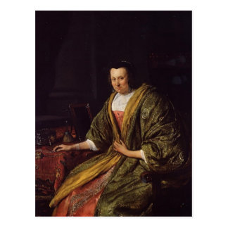 Jan Steen- Portrait of Geertruy Gael Postcard