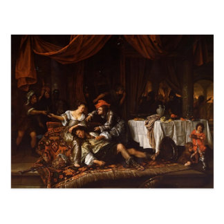 Jan Steen- Samson and Delilah Postcard