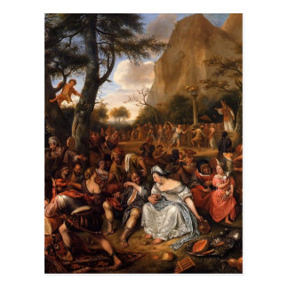 Jan Steen- Worship of Golden Calf Postcard