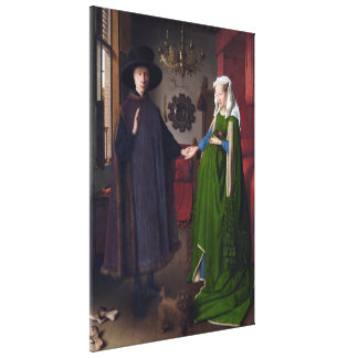 JAN VAN EYCK - Arnolfini portrait 1434 Canvas Print