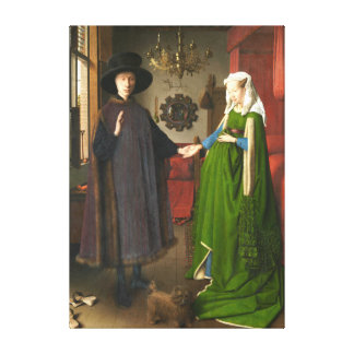 Jan van Eyck Arnolfini Portrait Canvas Print