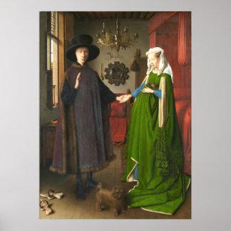 Jan van Eyck Arnolfini Portrait Poster
