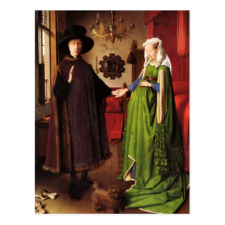 Jan van Eyck: Arnolfini Wedding Portrait Postcard