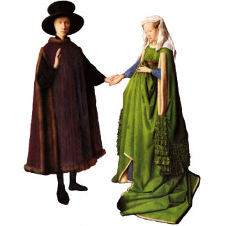 Jan Van Eyck Arnolfini Wedding Portrait Sculpture Standing Photo Sculpture