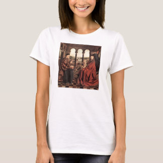 Jan Van Eyck - Madonna and Chancellor Nicholas Rol T-Shirt