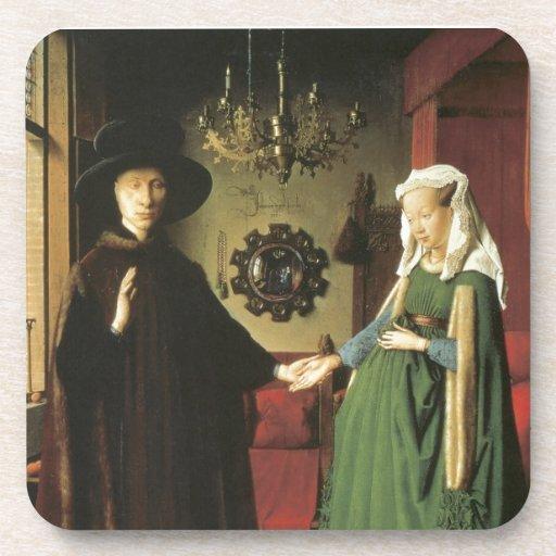 Jan van Eyck Marriage Drink Coasters