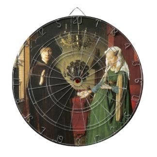 Jan van Eyck Marriage Dartboard With Darts