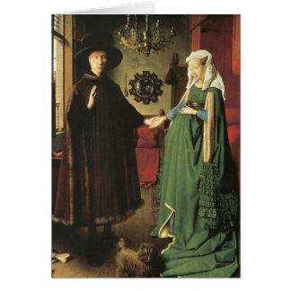 Jan van Eyck Marriage Greeting Card