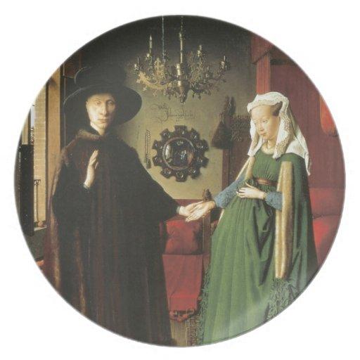 Jan van Eyck Marriage Party Plate