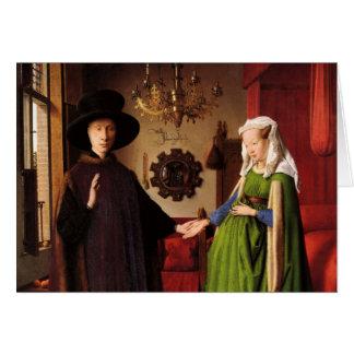 Jan Van Eyck Protrait of Giovannit Arnofini & Wife Card