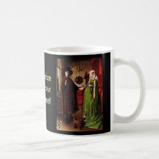 Jan Van Eyck Protrait of Giovannit Arnofini & Wife Coffee Mug