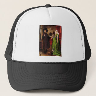 Jan Van Eyck Protrait of Giovannit Arnofini & Wife Trucker Hat