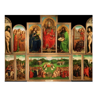 Jan van Eyck- The Ghent Altarpiece Postcard