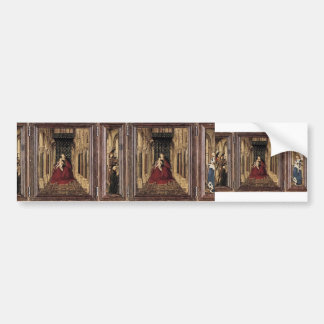 Jan van Eyck- The Virgin and Child in a Church Bumper Sticker