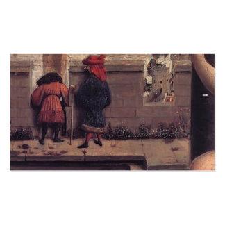 Jan van Eyck- The Virgin of the Chancellor Rolin Business Card Template