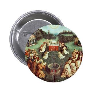 Jan Ven Eyck Art Pinback Button