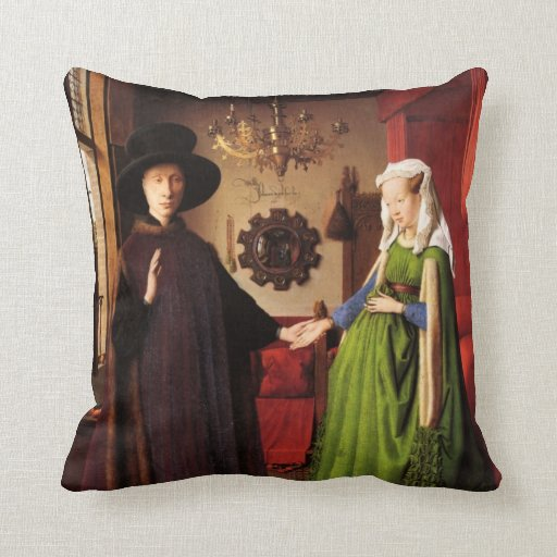 Jan Ven Eyck Art Throw Pillows
