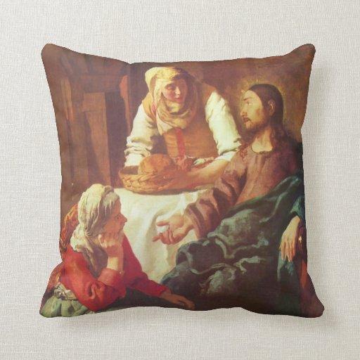 Jan Ven Eyck Art Throw Pillow