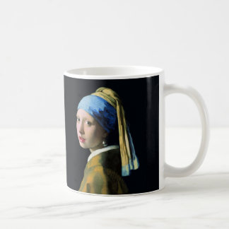 Jan Vermeer Girl With A Pearl Earring Baroque Art Coffee Mug