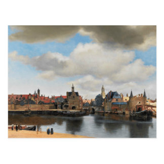 Jan Vermeer - View on Delft Postcard