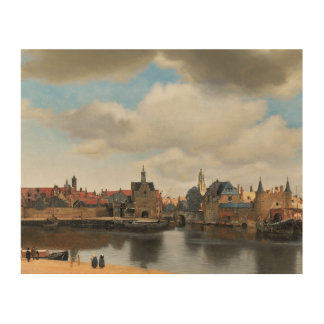 Jan Vermeer - View on Delft Wood Canvas
