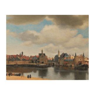 Jan Vermeer - View on Delft Wood Prints
