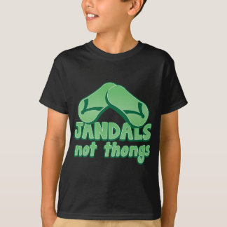 JANDALS not thongs Kiwi Aussie funny design Tshirts